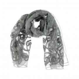 A-Zone stola sjaal grijs 100% zijde 70 x 180cm