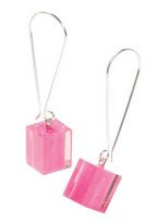 ZSISKA earrings pink. CUBES.