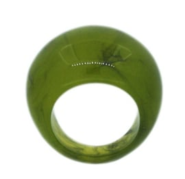 ZSISKA ring green olive marbled. BASIC