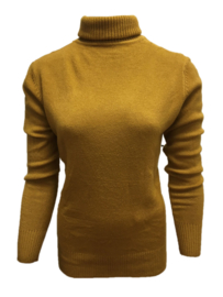 LEEZZA fall turtleneck ochre yellow, viscose