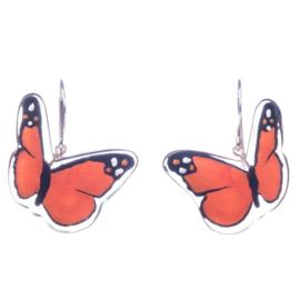 ZSISKA oorbellen oranje BUTTERFLY
