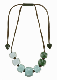 ZSISKA necklace green degrade BELLISSIMA