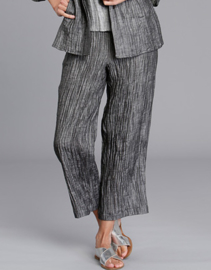VETONO trousers in a woven 7/8 polka dot linnen chambray