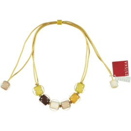 ZSISKA necklace yellow beige brown. BALL'S