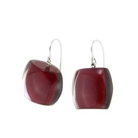 ZSISKA earrings red bordeaux, BELLISSIMA