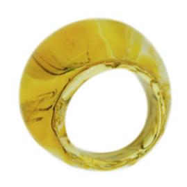 ZSISKA ring geel oker gemarmerd BASIC