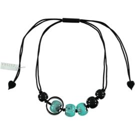 ZSISKA necklace turquoise black SATURN