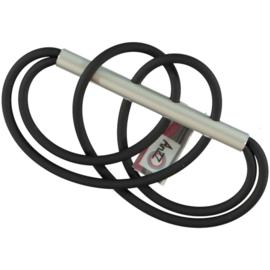 AnZZ broche rubber aluminium krakeling vorm