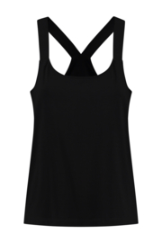 ELSEWHERE halter top- black jersey