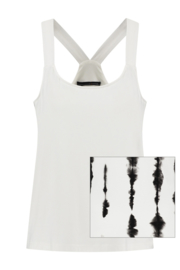 ELSEWHERE halter top- black print jersey