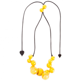 ZSISKA necklace yellow 14 beads BOLAS