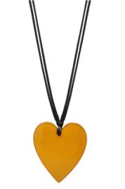 ZSISKA ketting geel hart klein HEARTS