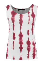 ELSEWHERE tank top BRITT - offwhite coral, Jersey print