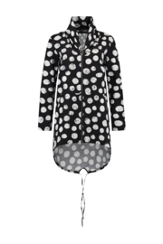 ELSEWHERE summer cardigan  jacket EMILY- black / white, Polka Dot