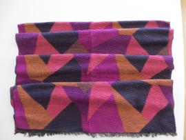 ROMANO winter scarf fuchsia navy multi col - plise, 60x180cm