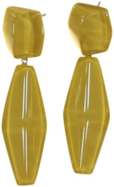 ZSISKA earrings yellow ochre pendant, SHADES.