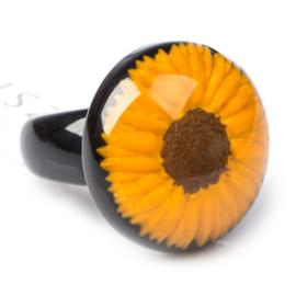 ZSISKA ring yellow sunflower FRIDA