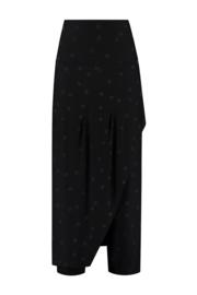 ELSEWHERE overslag broek LOLA - zwart jersey dot
