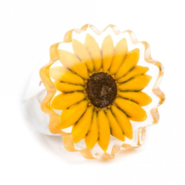ZSISKA ring yellow sunflower PRIMA VERA
