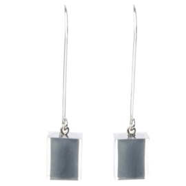ZSISKA earrings grey CUBES