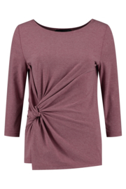 ELSEWHERE top 3/4 mouw CARLA - coral jersey