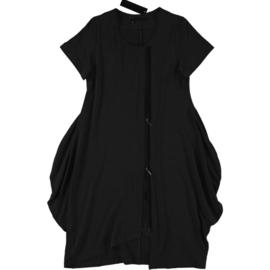 ELSEWHERE vest/jurk met rits zwart/wit  STYLE 3274A