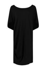 ELSEWHERE tuniek / jurk SIMONA - zwart jersey