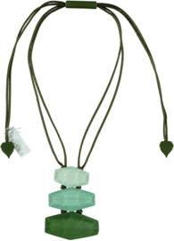 ZSISKA necklace green pendant - 3 elements. SHADES