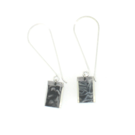 ZSISKA earrings grey marble. CUBES