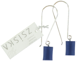 ZSISKA earrings blue - jeans. CUBES