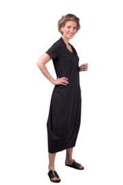 ELSEWHERE long dress SARAH - black, Linen
