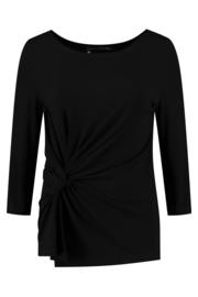 ELSEWHERE top 3/4 mouw CARLA - zwart jersey