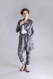 ELSEWHERE vest vintage print zwart-grijs STYLE 3224