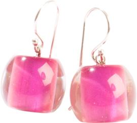 ZSISKA oorbellen roze  SPECTRUM BALL'S.