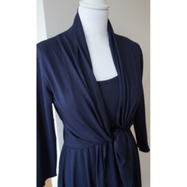 LEEZZA cardigan dark navy viscose/lycra. Style Irving