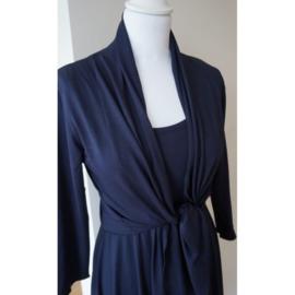 LEEZZA bolero vestje donker marineblauw jersey viscose/lycra. Style Irving