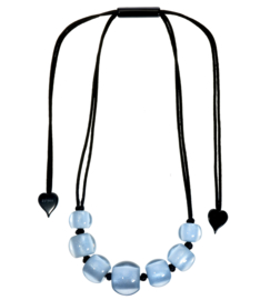 ZSISKA necklace light blue 7 uneven beads COLORFUL BEADS