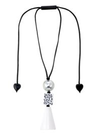 ZSISKA necklace silver ball pendant. MEMPHIS.