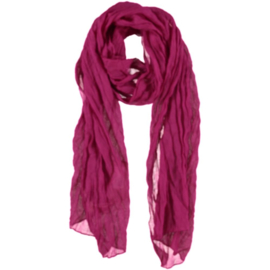 A-zone sjaal fuchsia roze crinkle batist  55 x 180cm