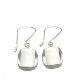 ZSISKA earrings white. BALL'S