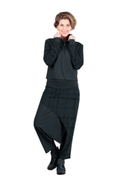 ELSEWHERE pants dhoti style travel jersey black STYLE 3352
