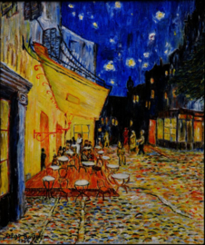 Van GOGH winter scarf Café Terrace at Night' 88x195cm
