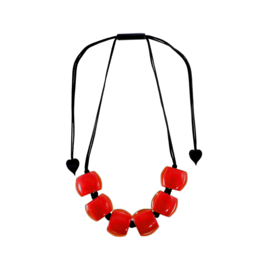 ZSISKA necklace red  BELLISSIMA.