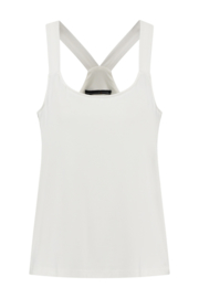 ELSEWHERE halter top ESRA- off-white jersey