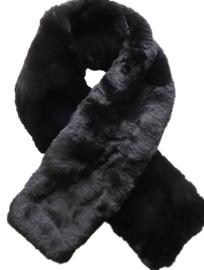 D&A bontsjaal zwart imitatie bont