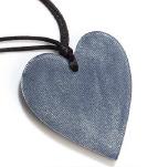 ZSISKA ketting blauw denim hart klein HEARTS