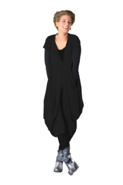ELSEWHERE cardigan/dress with zipper black  STYLE 3274