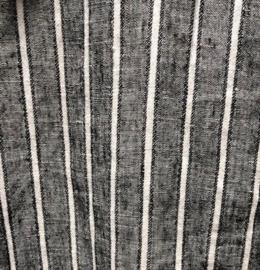 VETONO jurkje gestreept linnen , 3/4 mouw, v-hals 102 cm lang
