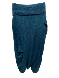 ELSEWHERE pants dhoti style petrol melange STYLE 3328