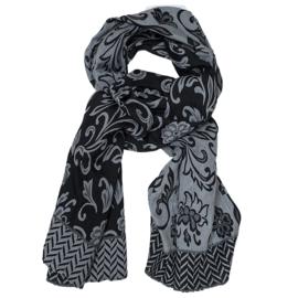 ROMANO sjaal/stola revesable grijs zwart jacquard